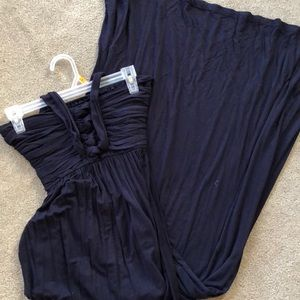 Navy blue maxi dress soft comfy and beautiful s M